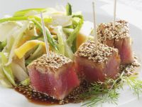 Marinierter Thunfisch und Sesamhaube Rezept