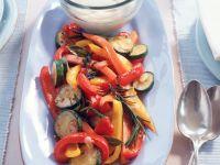 Mariniertes Gemüse mit Mayonnaisen-Dipp Rezept