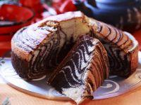 Marmorkuchen mit Zebra-Muster Rezept