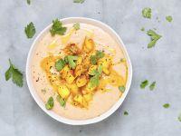 Maronensuppe mit Birnen-Nuss-Topping Rezept