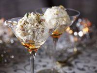 Maroni-Eis-Dessert mit Baiser Rezept