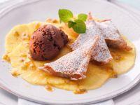 Maroniecken mit Ananas und Schokoeis Rezept