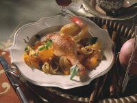 Martinsgans mit Orangen und Zwiebeln Rezept