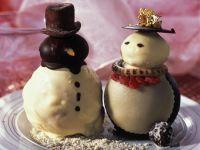 Marzipan-Schneemänner Rezept