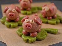 Silvestergeschenk: Marzipanschweinchen selber machen