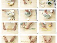 Maultaschen mit Ricotta-Spinat-Füllung herstellen Rezept