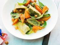 Maultaschensalat mit Kürbis und Orangenvinaigrette Rezept