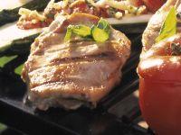 Mediterran gefüllte Schweinesteaks Rezept