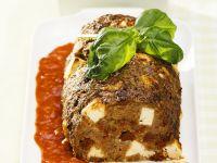 Mediterraner Hackbraten mit Tomatensauce Rezept