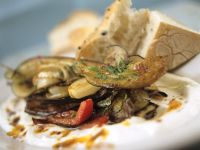 Mediterranes Gemüse mit Joghurt Rezept