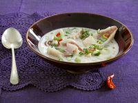 Meerbarbe in Kokossuppe Rezept