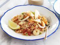 Meeresfrüchte mit Reisnudeln Rezept