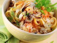 Meeresfrüchte-Nudeln Rezept
