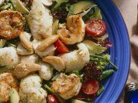 Meeresfrüchtesalat mit Bohnen und Avocado Rezept