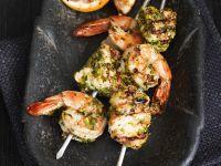 Meeresfrüchtespiesse vom Grill mit Chermoula Rezept