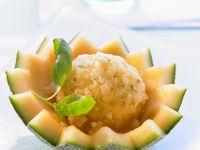 Melonen-Basilikum-Sorbet Rezept