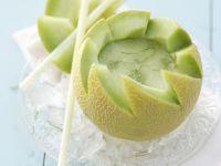 Melonen-Daiquiri in der Galia-Melone Rezept