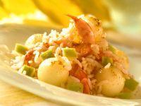Melonen-Garnelen-Reissalat Rezept