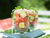 Melonen-Gurken-Salat Rezept