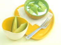 Melonen-Joghurt mit Honig Rezept