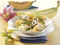 Melonen-Rauke-Salat mit Reisnudeln Rezept