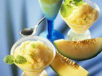 Melonen-Sektsorbet Rezept