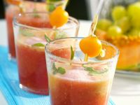 Melonen-Traubensuppe Rezept