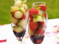 Melonensalat mit Balsamico Rezept