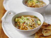 Mexikanische Suppe mit Mais und Avocado Rezept