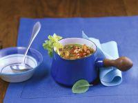 Miesmuschel-Gemüsesuppe Rezept