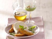 Milchreismousse mit gebackenen Minibananen und Minz-Pesto Rezept