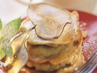 Mini-Pfannkuchen mit Birnen Rezept