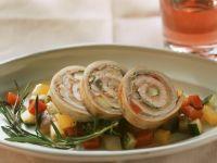 Mini Rouladen vom Kalb mit Ratatouille und Rosmarin Rezept