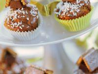 Mini-Schokomuffins mit Keks-Häuschen Rezept