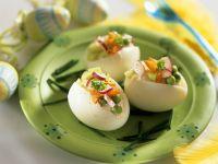 Mit Gemüse gefüllte Eier Rezept