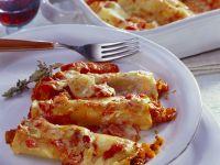 Mit Möhren gefüllte Cannelloni Rezept