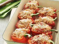 Mit Reis gefüllte Paprikaschoten Rezept