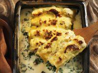 Mit Schnittkohl gefüllte Cannelloni Rezept