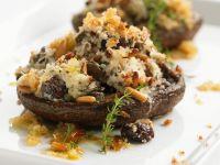 Mit Ziegenkäse gefüllt Pilze Rezept