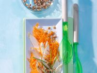 Möhren-Rohkost mit Spargel und Sprossen Rezept