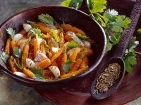 Möhren und Schalotten mit Kümmel Rezept