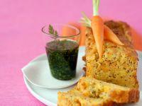 Möhrenkuchen und Vinaigrette aus Kerbel Rezept