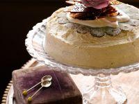 Mohn-Vanillekuchen mit Karamell