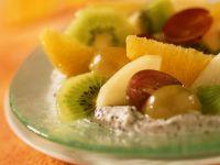 Mohncreme mit Früchten Rezept