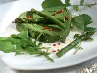 Mousse aus grünem Spargel