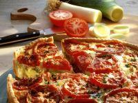 Mürber Tomaten-Lauch-Kuchen