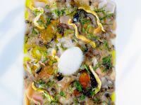 Muschel-Lachs-Carpaccio Rezept