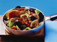 Muscheln mit Gemüse im Weinßweinsud Rezept