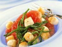 Muscheln mit Grapefruit und Queller Rezept