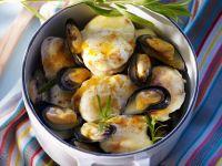 Muscheln und Seeteufel nach Französischer Art Rezept